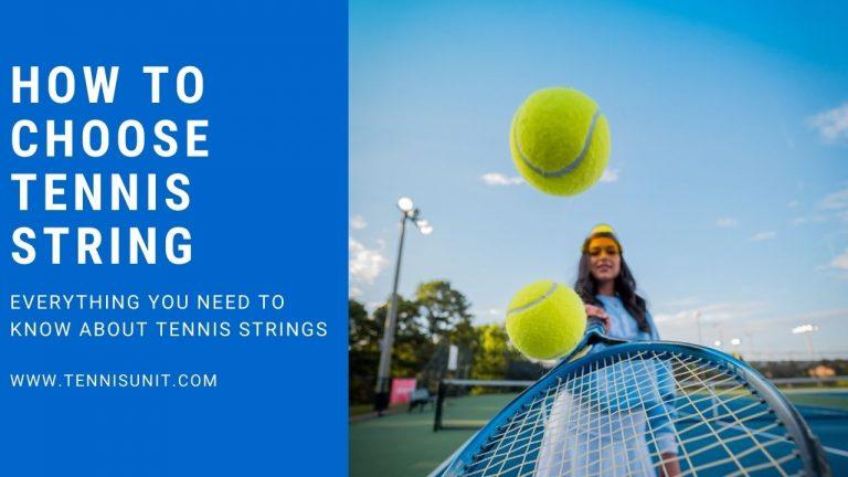 Tennis string guide